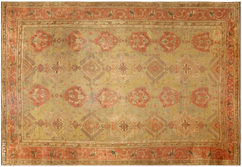 Antique Turkish Oushak Rug Nazmiyal