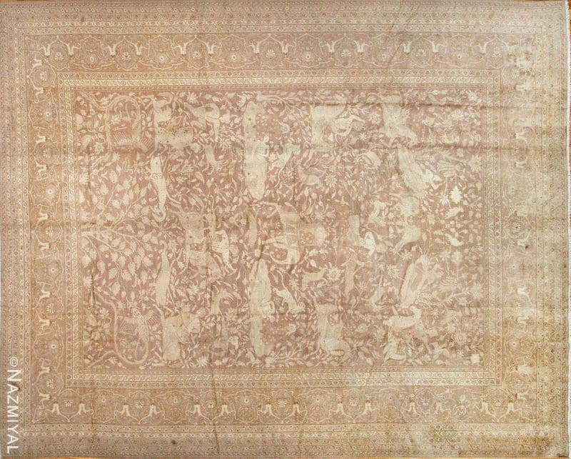 Antique Indian Amritsar Carpet by Nazmiyal