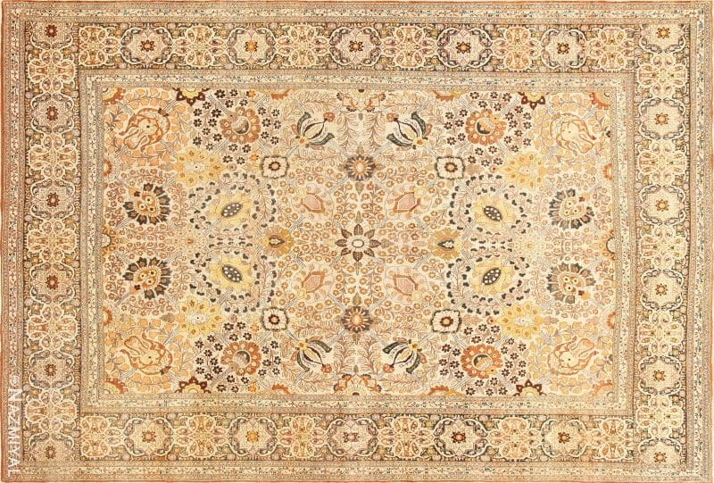 Antique Persian Tabriz Haji Jalili Rug | Nazmiyal