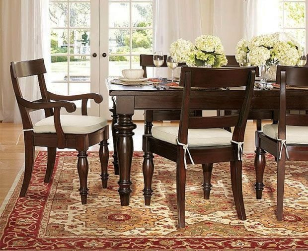 Dining Room Interior Design With Oriental Rug by Nazmiyall