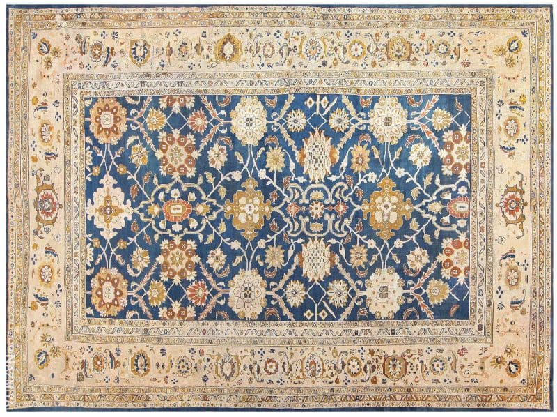 Antique Persian Large Scale Ziegler Sultanabad Carpet Nazmiyal