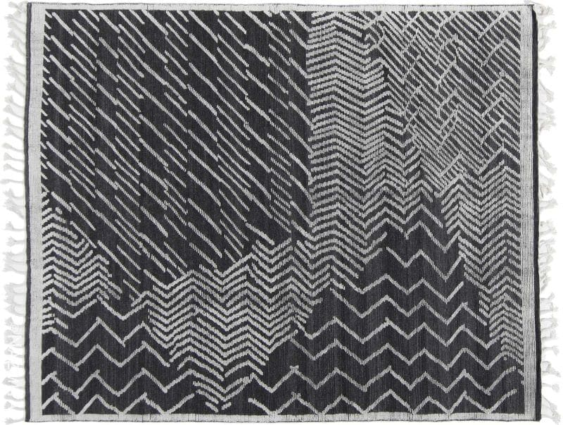 Black and White Modernist Collection Rug Nazmiyal