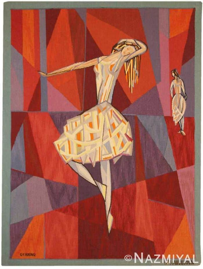 "Vintage French ""The Dance"" Tapestry by Lars Gynning Nazmiyal"