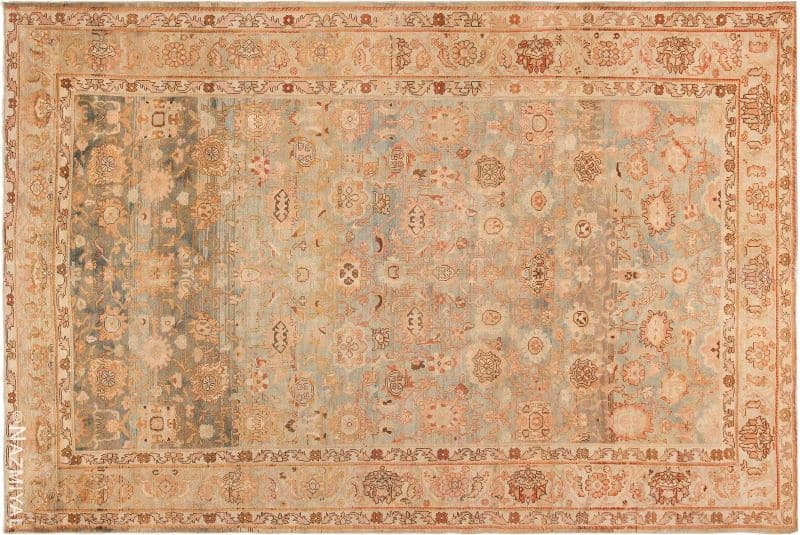 Decorative Antique Room Size Persian Malayer Rug Nazmiyal