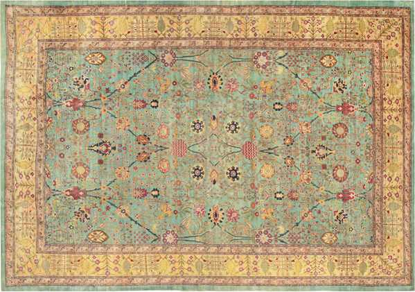 Antique Agra Oriental Rug, Nazmiyal