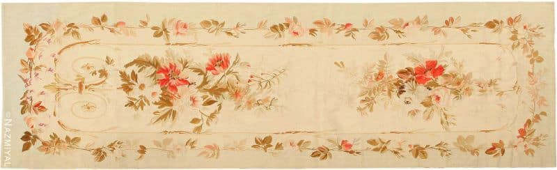 Antique French Aubusson Runner Rug Nazmiyal